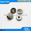 fabricante de botones redondos snap botón del metal prendas botón a presión