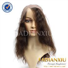 China famous factory ruiheng natural color black women brazilian hair full lace wig