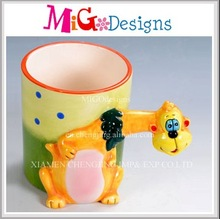 New Products Giraffe Unique Shape Ceramic Coffee Mugs