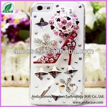 High quality cheap pc diamond rhinestone mobile phone case for iphone 4 5