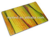 vegetable pattern tempered glass cutting boards/chopping boards