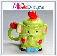 Colorful Decorative Factory Manufacture Art Craft OEM Custom Design Promotion Gift Elephant Shaped Ceramic Mug With Lid