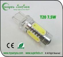 Car led lights t20 w21/5w 7443 7440 7.5w