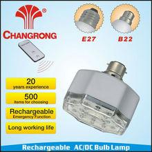plastic rechargeable emergency 220V-240V e27 led lamp bulb