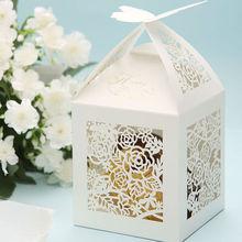 Indian wedding favors wholesale & Box favors with Rose flowers Laser Cut Indian wedding favors boxes