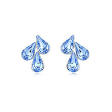 9233 hot sale free shipping artificial crystal three tear earring