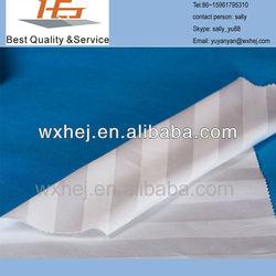 super cheap polyester hotel microfiber white 1cm stripe bedding set fabric