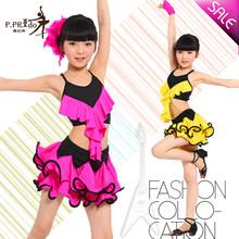 Hot vendre kd1314 filles. latine enfants robe robe de danse latine enfants costume de danse latine salle de bal robe