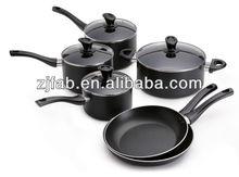 10pcs Durable Aluminum Pots And Pans With Glass Lid