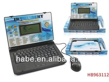 Kid Toys Educational Toy Laptop Computer,Learning Laptop English/Spainsh 92 Functions