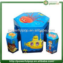 Fuente de alimentación de dibujos animados de colores y escritorios de cartón de muebles de los niños