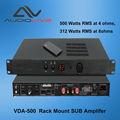 Profissional 500w rms em ohms 4 vda-500 montagem em rack amplificador sub
