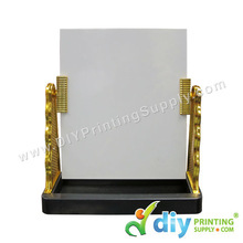 Glass Mirror with Stand (Gold)