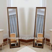 Living room decent delicate wooden framed decorative cheap dressing mirror furniture