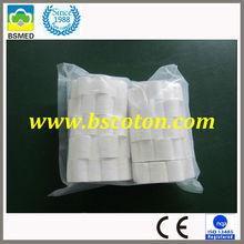 dental department supplier 0.4g, 8x38mm Surgical Dental Cotton