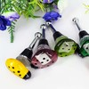 2014 bir new products China Christmas decoration / wedding favor decoration / promotion murano glasses wine bottle stopper bar