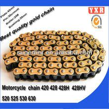 Peças da motocicleta cadeia roda dentada, China fabricante 420 h cadeia motocicleta, Novo produto partes zongshen motocicleta