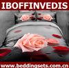 Queen size pink rose design 3d bedding set