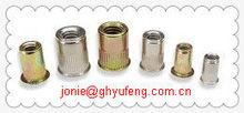 hunan fasteners knurled / ribbed plastic rivet nut nutsert