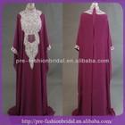 Real Sample Picture Latest Burgundy Kaftan Fancy Abaya, Chiffion Dubai Evening Dresses Arabic Dubai 2014 abaya jilbab kaftan
