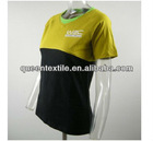 UPF40+ Moisture wicking Fashion Ladies Bamboo Fabric t shirt wholesale china