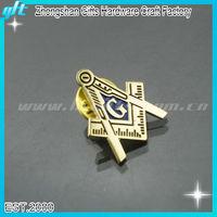 High quality metal masonic emblem, regalia masonic, gold masonic badge