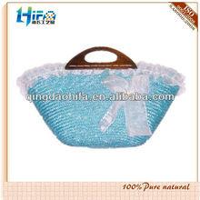 Beautiful Pastoral Straw Casual Rattan Shoulder Handbag