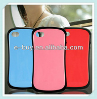 Branded phone case pc soft tpu phone case for iPhone4 4s