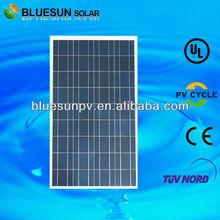 Bluesun high quality 25 years warrantly poly 100W 12v solar panel