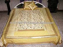 BANJARA ETHNIC TRIBAL VINTAGE EMBROIDERY EXPORT DESIGNER BED SHEET