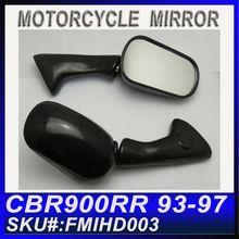 For HONDA CBR900RR 93-97 Custom Black Motorcycle Rearview Mirrors FMIHD003