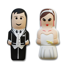 Bride and Groom Wedding favors Pen Drive Bride/Groom-shaped USB Flash Drives Sweet Memory Bride and Groom USB weeding gifts key