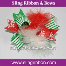 Christmas Hair Accessories Barrette Ribbon Bows