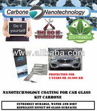 Nanotechnology coating for car glass KIT Carbone
