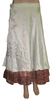 Indian Two Layer Silk Wrap around Skirts Silk Sari Wrap around Skirts Magic Wrap Skirts