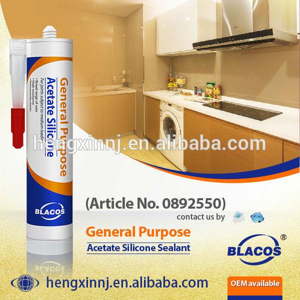 General Purpose Acetic Non-Toxic Waterproof Silicone Sealant