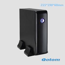 cheap thin client mini pc QOTOM-T255C Intel Atom processor D2550,dual core 1.86GHZ 2GB DDR3 RAM,8G SSD,12v mini pc fanless