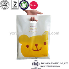 beautiful LDPE Plastic Die Cut Bags with printing for shopping shoes clothes candy
