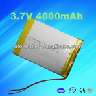 Shenzhen most famouse Tablet PC Factory 3.7V 4000mAh Battery for E-book, GPS, PMP, MID, PowerBank