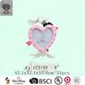Polyresin rosa em forma de coração foto de casamento quadro fabricante