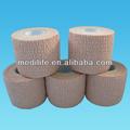 cohesivo vendaje elástico de algodón cohesiva flexible de vendas de algodón crepe vendaje