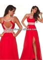 2013 largo de color rojo de noche de gasa cóctel de bola de baile vestidos de dama de honor vestido de novia de encaje de baile vestidos de bola
