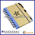 A3 a4 cuaderno de cuero con bolígrafo de la pluma