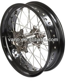 Factory sales 3.00x17 black rims motorcycle