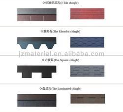 Colorful fiberglass asphalt shingle/asphalt roof shingle manufacturer