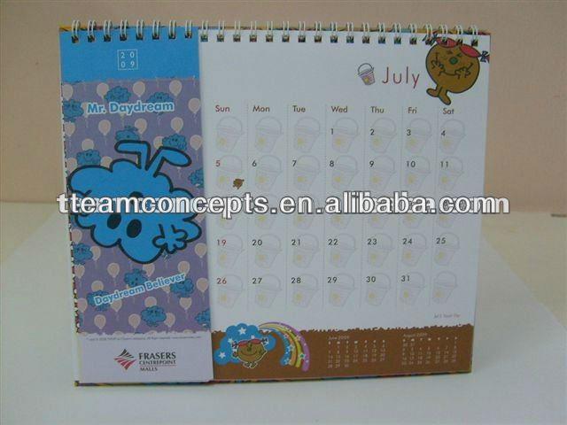 printable paper desk calendar 2014