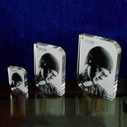 Home acrylic photo frames put on table