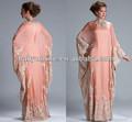 2014 nouvelles sexy manches longues mère de la robe de mariée en mousseline de soie en dentelle appliqued perles musulman. formelle. jq3309 robe des femmes arabes