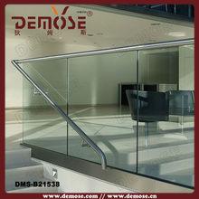 u channel aluminum glass railing for veranda
