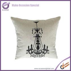 19001 Latest new design pattern decrative linen printed sofa chair cheap custom cushion covers wholesale
